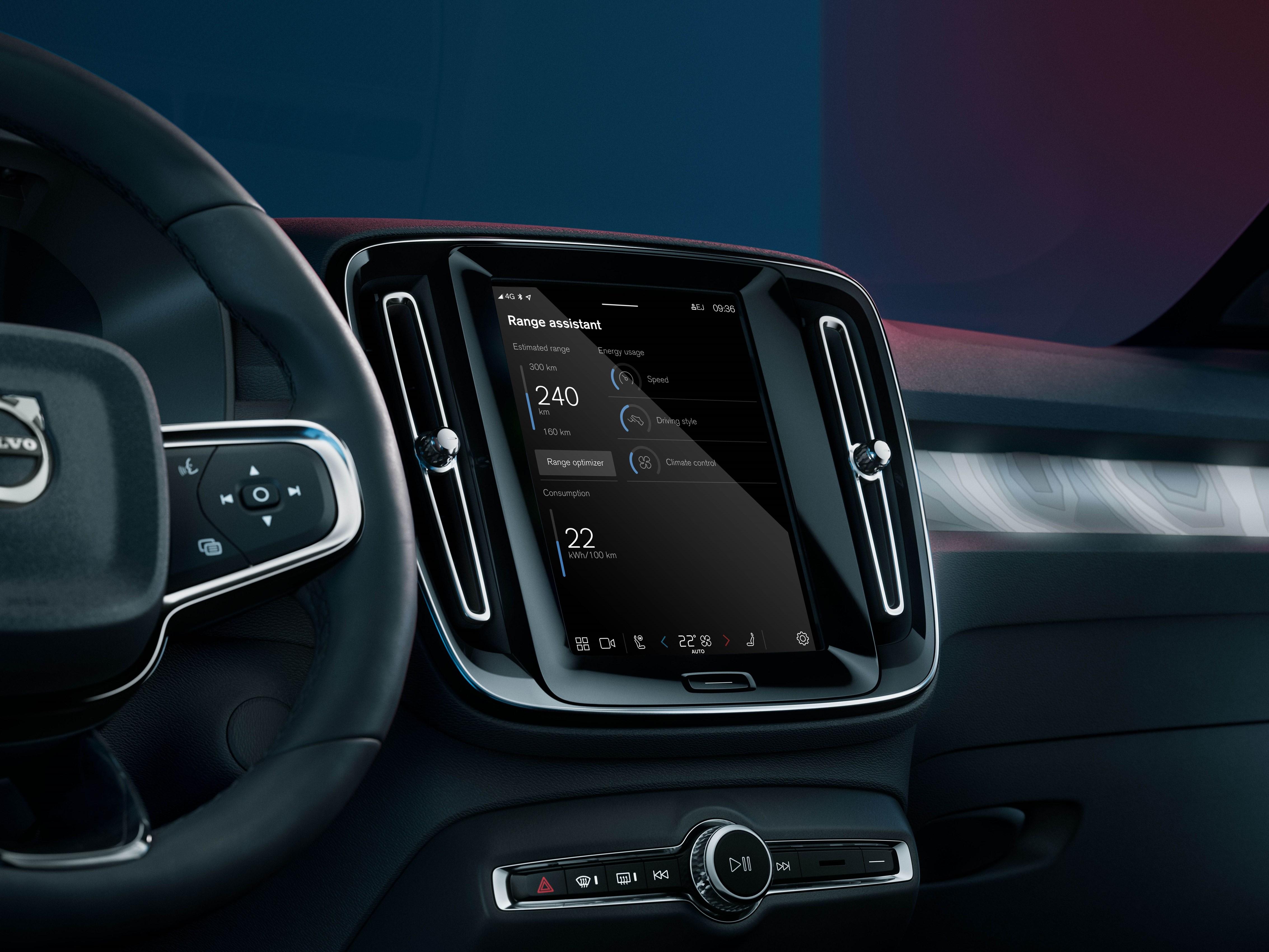 Оптимізація запасу ходу повністю електричного Volvo із додатком Range Assistant